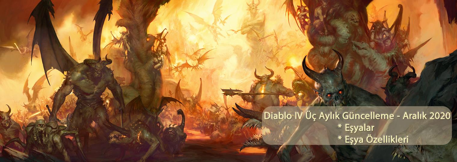 Diablo IV Üç Aylık Güncelleme - Aralık 2020